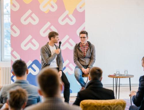 Spannender Impuls von Georg Burtscher (Russmedia) beim zweiten Startupland Frühstück in Bludenz